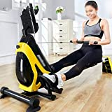 Ruderzugmaschine mit Rudergerät Mute Bauchbrust Arm Fitnesstraining Körper Glider Rudern Home Gym Fitnessausrüstung (Farbe : Schwarz, Größe : Einheitsgröße) - 4