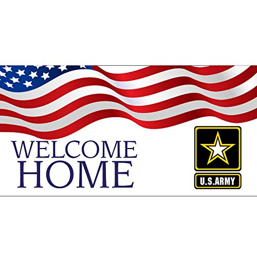 Welcome Home US Army Banner 11 Oz High Quality Vinyl PVC Flex Banners with Hemmed Edges & Metal Grommets Free (8' X 3') -  BannerBuzz