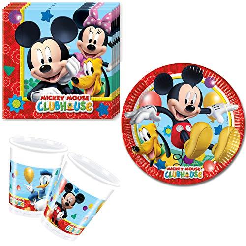 Vajilla De Mickey Mouse 24 Piezas