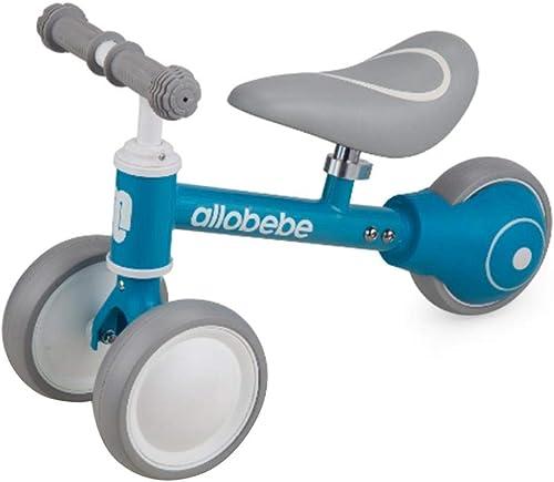 Juhomme634 Enfants Vélos Bébé Jouets   Cycle Toddler Jouets Pas De Pédale 3 Roues Stable Vélo Enfants Walker Bleu