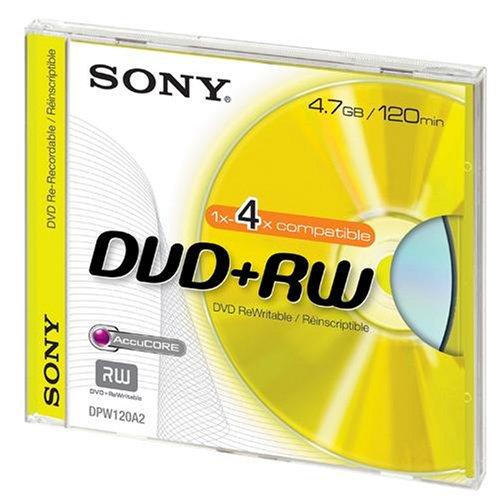 Sony - DVD+RW (rewritable), 4x, 120 Minuten