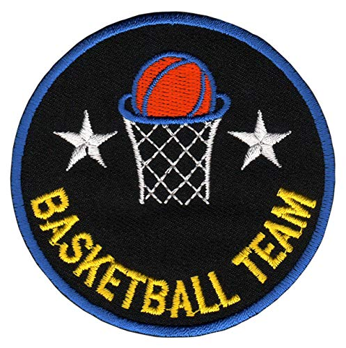 Patch Basketball Team Sport Korb Aufnäher Bügelbild 7,6 x 7,6 cm