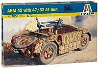 イタレリ 1/72 WW.II イタリア軍 ABM 42装甲車 47/32対戦車砲搭載型 プラモデル IT7053