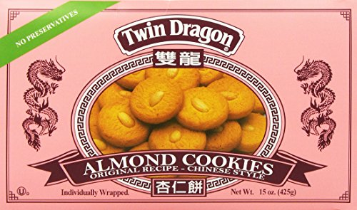 Twin Dragon Almond Cookies 15 Oz.