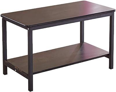 Mesa de sofá de arte de hierro, hogar multifunción mesa de centro de madera sala