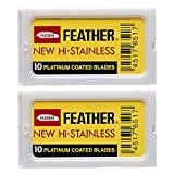 Feather Double Edge Safety Razor Blades 20 Count
