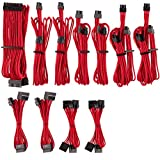 CORSAIR Premium Individually Sleeved PSU Cables Pro Kit for Corsair PSUs – Red, 2 Year Warranty