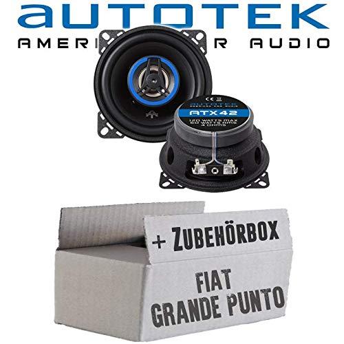 Lautsprecher Boxen Autotek ATX-42 | 2-Wege 10cm Koax Lautsprecher 100mm Auto Einbauzubehör - Einbauset für FIAT Grande Punto 199 Heck - JUST SOUND best choice for caraudio