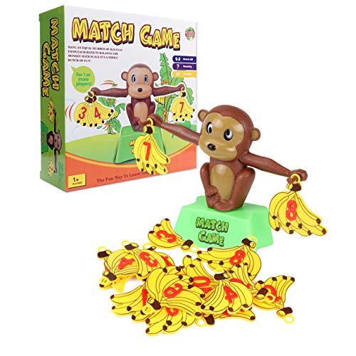 QMMCK Monkey Balance Number Game, Monkey Scale Game, Early Education Toys, Numbers 1-10 Addition and Subtraction Children's Mathematics Foundation