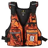 Roeam Chaleco de Pesca para Hombres y Mujeres,Chaleco Multibolsillos Ajustable para Kayak,Pesca,Caza,Deportes acuáticos