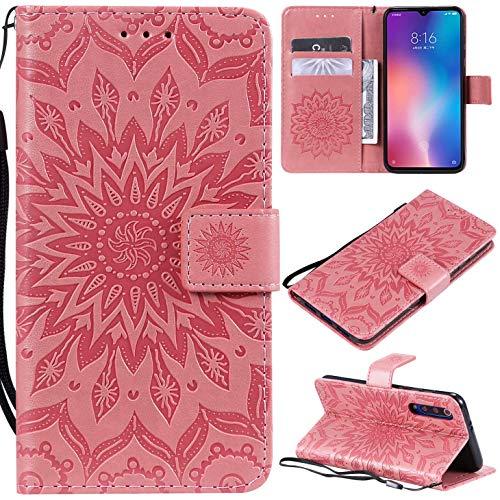 Hancda - Funda de piel para Xiaomi Mi 9 SE, Blumen Rosa