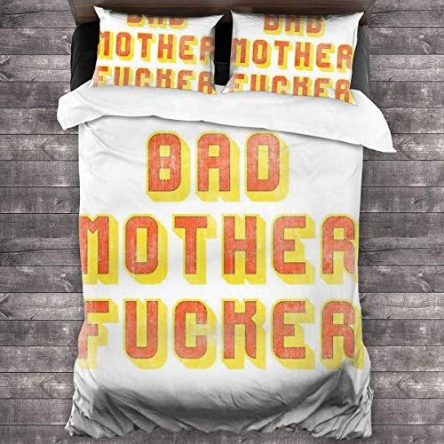 XINGAKA Bad Mother Fucker Pulp Fiction Jules Portafoglio 3 Pezzi Set Biancheria da Letto Copripiumino, Set Biancheria da Letto Decorativo 3 Pezzi con 2 federe C11680