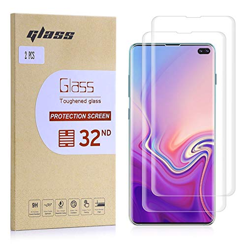 32nd Schermbeschermer, [Bubble gratis installatie], Gehard Glas Scherm Beschermer voor Samsung Galaxy S10 Plus [2 stuks]