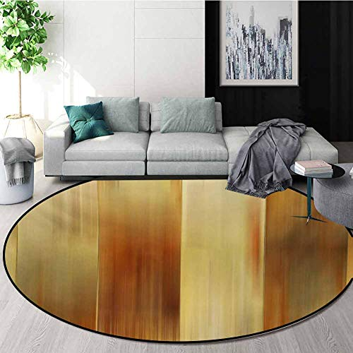 Buy Discount RUGSMAT Earth Tones Small Round Rug Carpet,Abstract Modern Design with Ombre Inspired S...