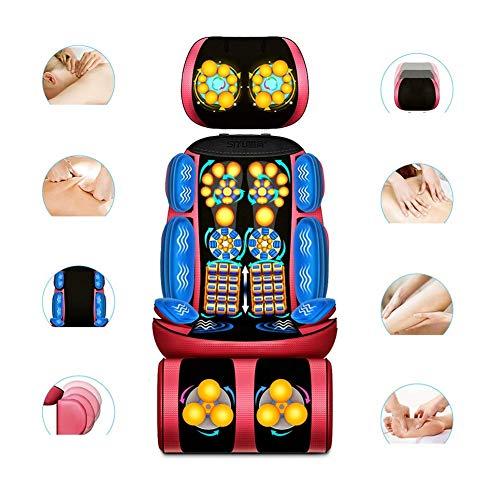 ZGYQGOO Massagesessel Mit mechanischer Handfernbedienung Abnehmbar (Nacken- / Taillen- / Schultermassagekissen/Home-Multifunktionsmassagekissen), Gold