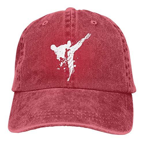 XBFHG Taekwondo Arts Bedruckte Baseball Jean Cloth Cap
