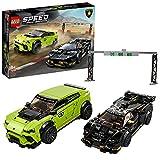 LEGO 76899 Speed Champions Lamborghini Urus ST-X & Lamborghini Huracán Super Trofeo EVO Maqueta de Coche de Carreras de Juguete