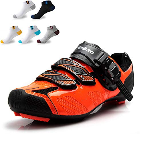 XFQ Unisex Ciclismo Zapatos, Zapatos Carretera Bicicleta De Montaña Pro Zapatillas De...