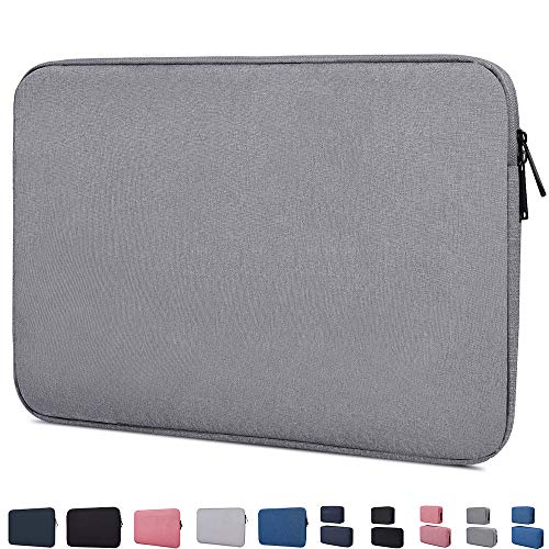 """14-15 Inch Waterproof Laptop Sleeve Case Compatible with Acer Chromebook 14, Macbook Pro 15 Inch, HP Stream 14/Pavilion X360 14, HP Chromebook 14, LG gram 14"""", ASUS VivoBook, 14 inch Notebook Bag,Grey"""