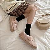 Pantuflas Mujer Invierno Casa Baratas,Zapatillas De AlgodóN De Dibujos Animados Bonitos, Zapatillas De AlgodóN De Felpa De Suela Gruesa Antideslizantes para El Hogar Interior De OtoñO/Invierno para