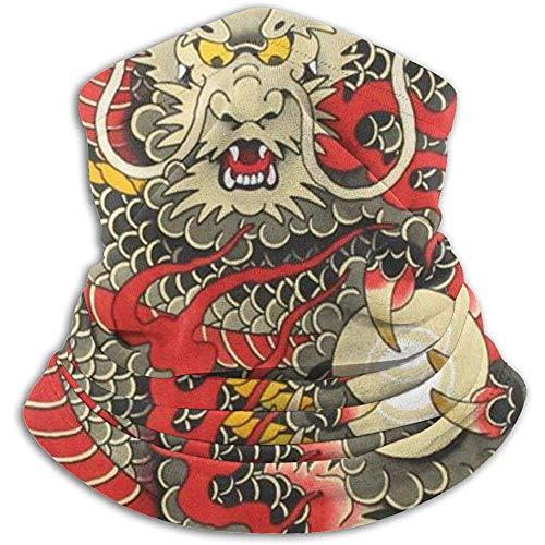 Randy-Shop Rouge Chinois Dragon Dragon Artwork Ski Masque Temps Froid Visage Masque Cou Chaud Capuche Chapeaux d'hiver