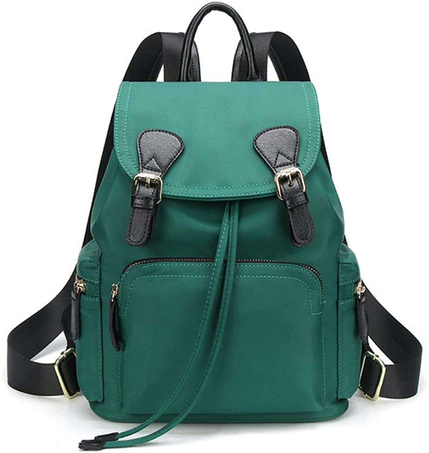 HUWAI Backpack Shoulders Unisex Female Retro Campus Personality Computer Bag (color   GREEN)