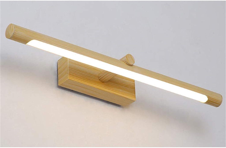 WYFLY Spiegel Scheinwerfer Wandleuchte Led Badezimmerspiegellampe 10W (warmes Licht), Lnge 560 cm - Holzmaserung