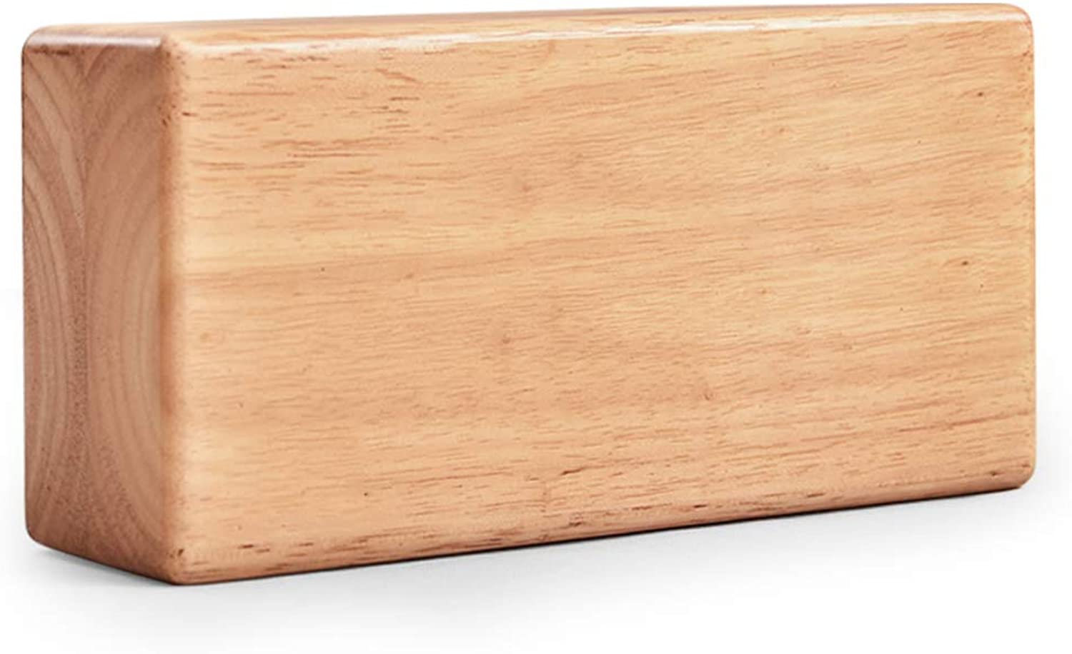 Environmentally Friendly Rubber Wood Yoga Brick Yoga Pillow Fitness Aid (color   Beige)