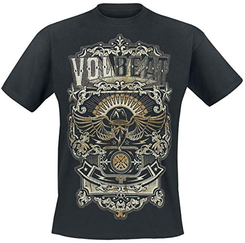 Volbeat Old Letters Männer T-Shirt schwarz XL 100% Baumwolle Band-Merch, Bands