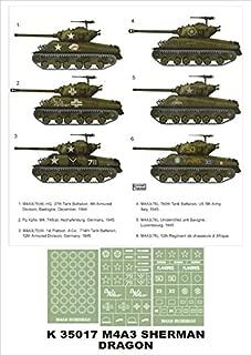 Montex Super Mask 1:35 M4A3 76 Sherman for Dragon Kit Spraying Stencil #K35017