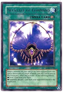 2004 Rise of Destiny 1st Edition # RDS-EN40 Necklace of Command (R) / Single YuGiOh! Card in Protective Sleeve