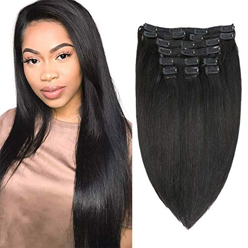Apeasex Natural Black Color for Thin Hair Extension