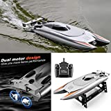 Remote Control Boat 2.4GHz 4CH Electric RC High Speed Racing Ship for Lake