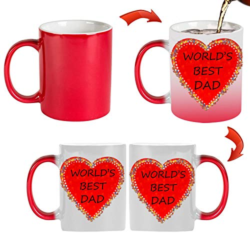 TK.DILIGARM World's Best DAD Coffee Mugs in Gift Box Pour The Cup That Will When it is Boiling Water. This is a Magic Cup.Birthday Present