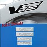 R&G CTS-V Logo Brake Caliper HIGH TEMP Decal Sticker Set of 4 (White)