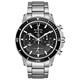 Bulova Marine Star Chronograph Mens Watch, Stainless Steel , Silver-Tone (Model: 96B272)