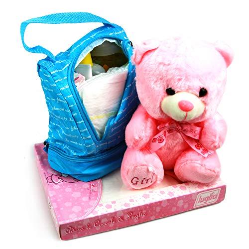 DrawerProps - Mochila Cesta regalo bebé recién nacido - Canastilla Nacimiento (Rosa)