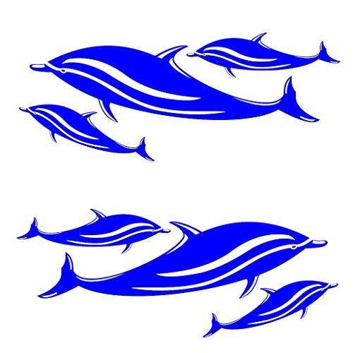 H HILABEE 2X Calcomanías De Delfines Azules Pegatinas Kayak Canoa Coche Surf Esquí Gráficos Accesorios