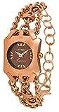 Moog Paris Electric Reloj para Mujer con Esfera Chocolate, Correa Oro Rosa de Acero Inoxidable - M45064-003