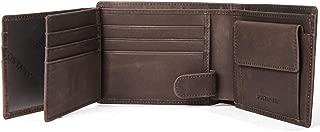 BOSTANTEN Men Leather Wallet RFID Blocking Trifold Cash Card Holder with Coin Pocket