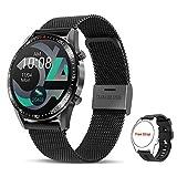 Tagobee Smartwatch Orologio Fitness Uomo Donna,Elegante Acciaio Smart Watch Bluetooth Digitale Cardiofrequenzimetro da polso Contapassi Impermeabile IP67 Sportivo Activity Tracker Per Android ios