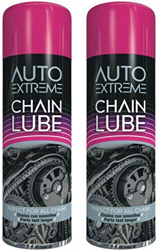 Bike Chain Cleaner, 300ml Chain Lube, Bike Chain Oil, Lubricate Oil Fluids Spray Cans for Motorbikes, Bikes, Bicycles, Squirt Chain Lube, Drivetrain Cleaner Degreaser by Autoextreme ( 2 x Cans)
