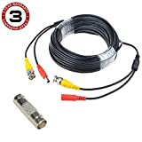 SLLEA 65ft Black BNC Video Power Wire Cord for Samsung Camera Cable SDS-P5100 SDS-P5101
