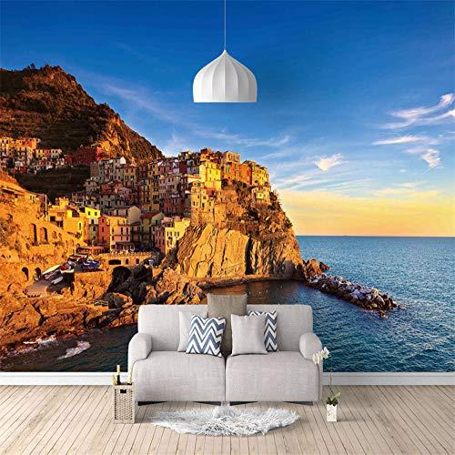 Fototapete 3D 300X210Cm Kreta Strand, Griechenland Tapete Fototapeten Vlies Tapeten Vliestapete Wandtapete Moderne Wandbild Wand Schlafzimmer Wohnzimmer
