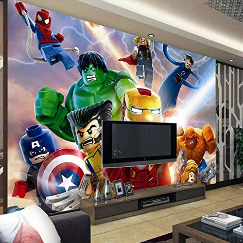 MGQSS 3D tapete Selbstklebend Wandbild Rache Plakat Hintergrund Foto Art Zuhause Dekoration Kind Cartoon Zimmer Junge Mädchen Schlafzimmer Film Zeichen Büro Club (B) 200 × (H)150cm