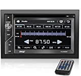 Upgraded Pyle Double Din Touchscreen | DVD CD Player | Bluetooth Handsfree Calling | 6.5 In LCD Monitor | USB/Micro SD Card Slot | AM FM Radio | RCA To AUX Input | Remote Control Included (PLDN63BT),BLACK