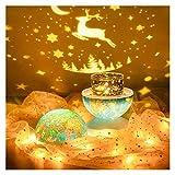 YXCKG Lámpara De Estrella De Bebé, Lámpara Proyector Infantil,Petrichor 360° Rotación Iluminación Infantil Nocturna, con 5 Colores Cambiantes, para Fiesta Decoraciones De Cumpleaños, Navidad