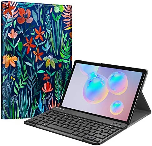 "Fintie Keyboard Case for Samsung Galaxy Tab S6 10.5"" 2019 (Model SM-T860/T865/T867), [Supports S Pen Wireless Charging] Slim Cover w/Detachable Wireless Bluetooth Keyboard, Black"