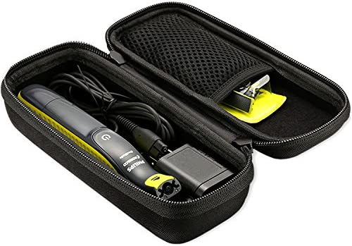 ProCase Hard Case for Philips Norelco OneBlade QP2520 QP2530 QP2620 QP2630, Travel Organizer Carrying Bag for Philips Norelco One Blade Hybrid Electric Trimmer and Shaver -Black