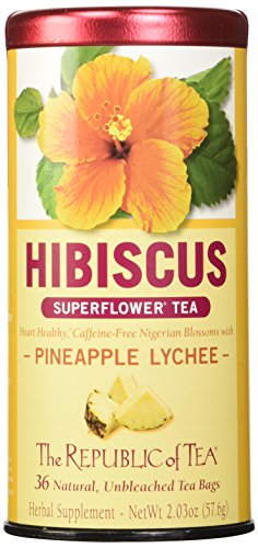 The Republic of Tea, Pineapple Lychee Hibiscus, 36-Count